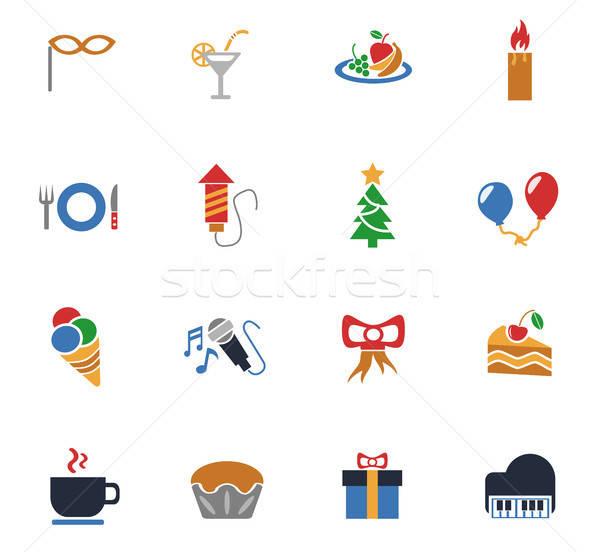 Celebração os ícones do web usuário interface projeto Foto stock © ayaxmr