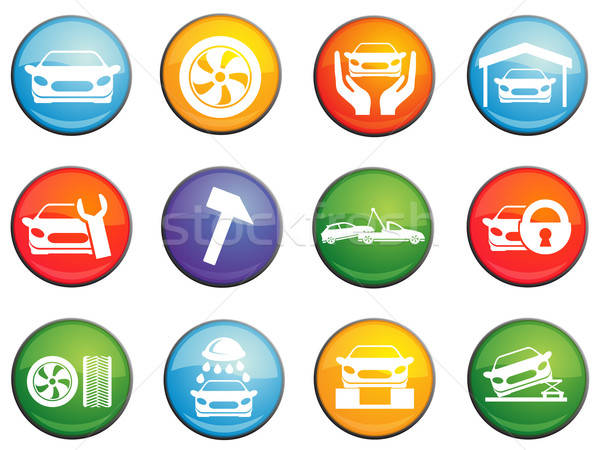 Car service icons set Stock photo © ayaxmr