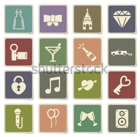 Medische eenvoudig iconen web gebruiker Stockfoto © ayaxmr