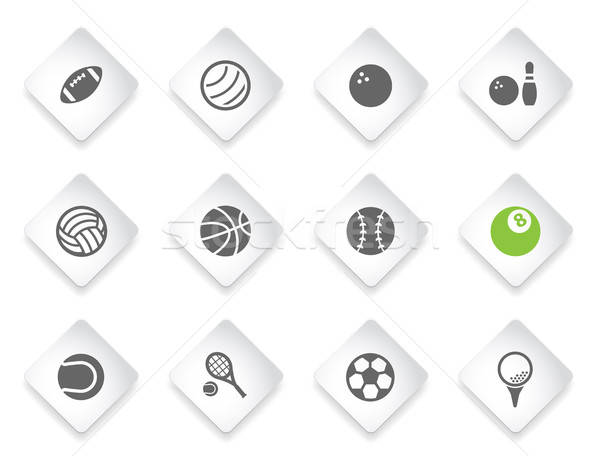 спорт просто иконки символ веб-иконы Сток-фото © ayaxmr