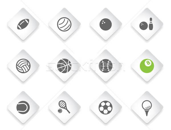 Sport simplement icônes symbole icônes web Photo stock © ayaxmr