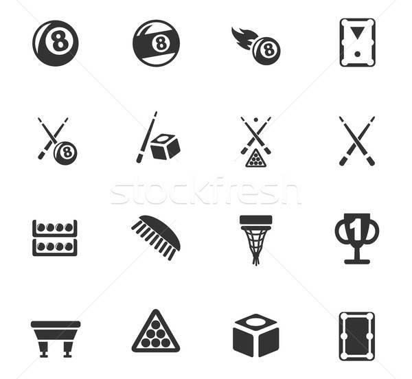 бильярд веб-иконы пользователь интерфейс дизайна Сток-фото © ayaxmr