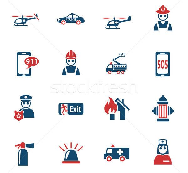 Emergência os ícones do web usuário interface projeto Foto stock © ayaxmr