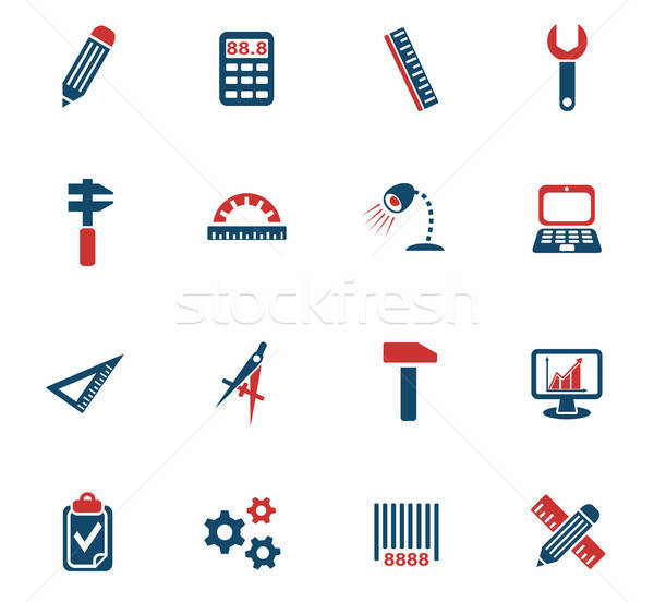 engineering icon set Stock photo © ayaxmr