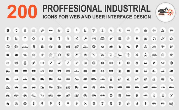 Profesional industrial iconos web usuario interfaz Foto stock © ayaxmr