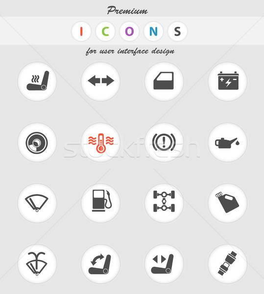 Carro interface assinar cor ícone teia Foto stock © ayaxmr