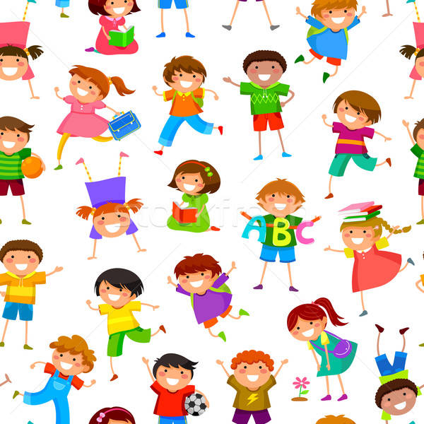 cartoon kids pattern Stock photo © ayelet_keshet
