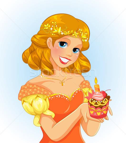 рождения Принцесса красивой девушки Сток-фото © ayelet_keshet