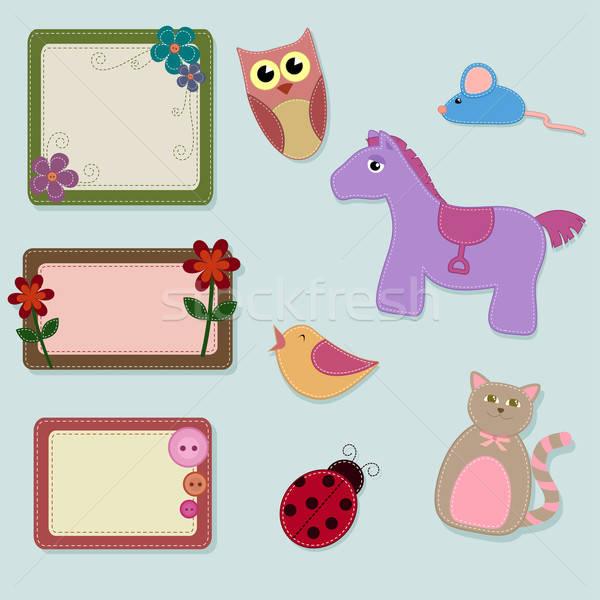 felt animals and frames Stock photo © ayelet_keshet