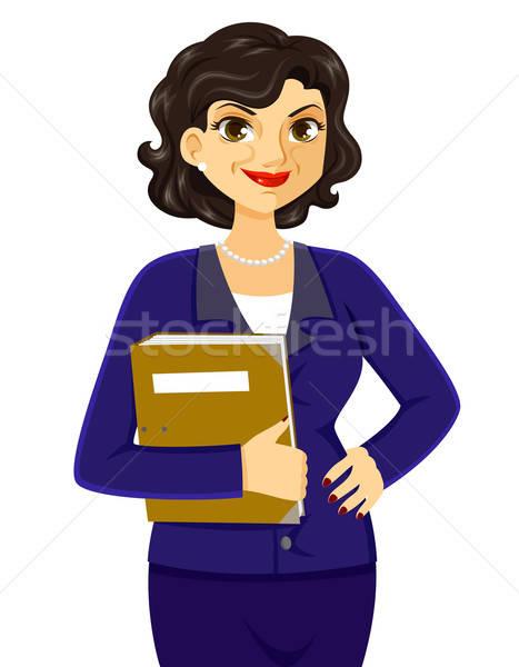 érett üzletasszony mosolyog bizalom üzlet boldog Stock fotó © ayelet_keshet
