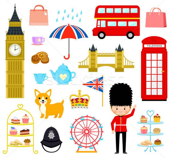 Londyn zestaw cute Anglii zakupy Zdjęcia stock © ayelet_keshet
