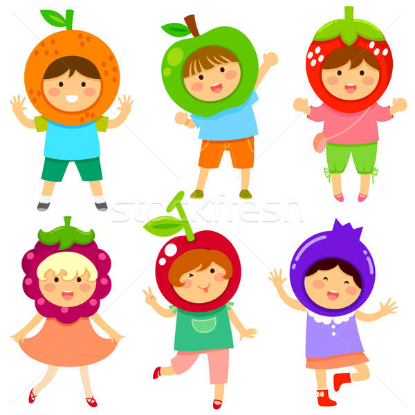 Fruit kinderen cute zoals vruchten kinderen Stockfoto © ayelet_keshet