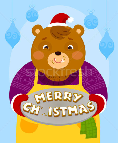 Beer christmas cookies cartoon brief Stockfoto © ayelet_keshet