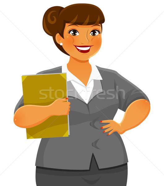 ビジネス女性 女性 ビジネス スーツ 笑みを浮かべて オフィス ストックフォト © ayelet_keshet