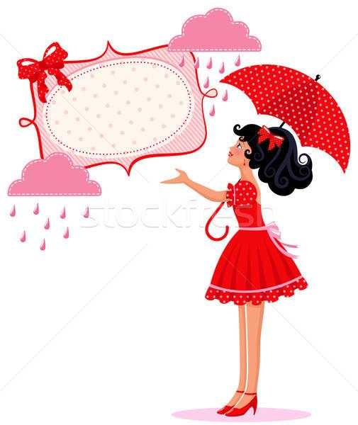 cute girl in the rain Stock photo © ayelet_keshet