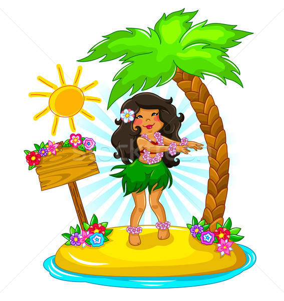 hula girl Stock photo © ayelet_keshet