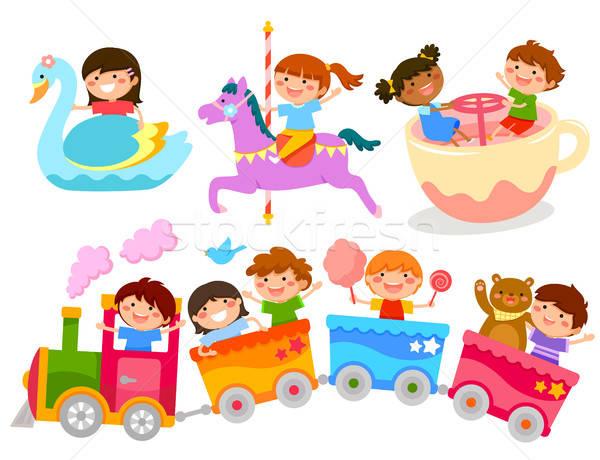 kids on fun rides Stock photo © ayelet_keshet