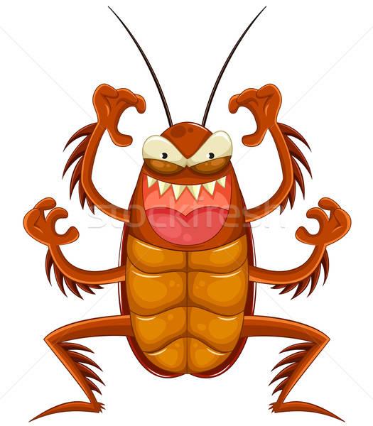 Karikatür korkutucu hamamböceği gülümseme gülen stok Stok fotoğraf © ayelet_keshet