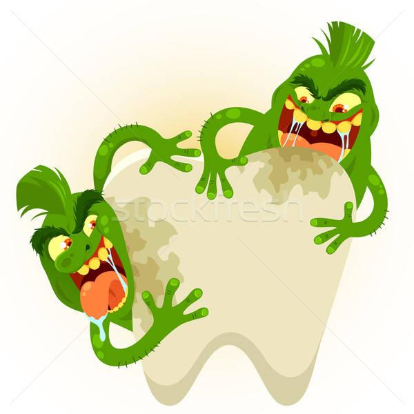 cartoon tooth germs Stock photo © ayelet_keshet