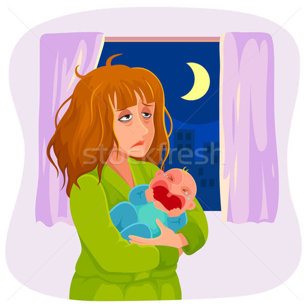 sleepy mother Stock photo © ayelet_keshet