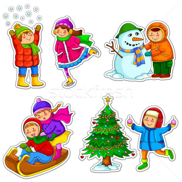 kids in winter Stock photo © ayelet_keshet