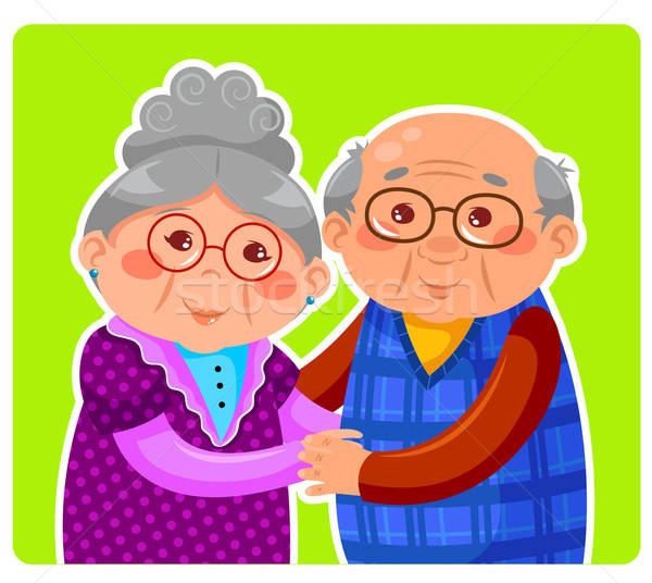 Casal velho casal de idosos sorridente homem feliz Foto stock © ayelet_keshet