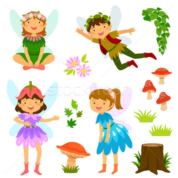Fairies of both genders Stock photo © ayelet_keshet