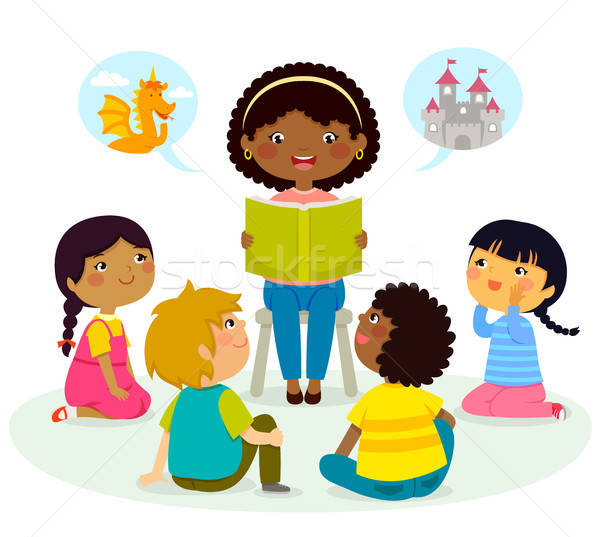 story time – multicultural group Stock photo © ayelet_keshet
