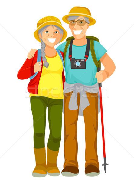 Senior gelukkig samen vrouw Stockfoto © ayelet_keshet