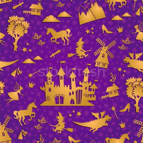 fairytale pattern Stock photo © ayelet_keshet