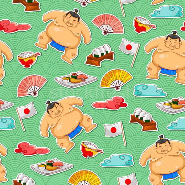 sumo pattern Stock photo © ayelet_keshet