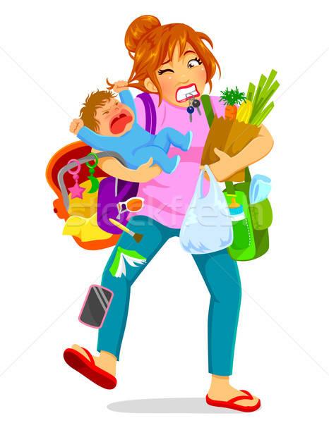 overloaded mom Stock photo © ayelet_keshet