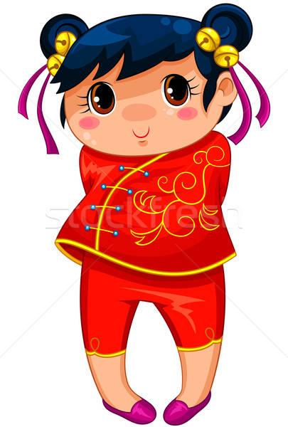 Çin kız küçük manga stil Stok fotoğraf © ayelet_keshet