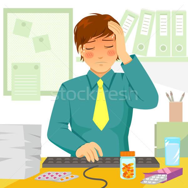 sick at work Stock photo © ayelet_keshet