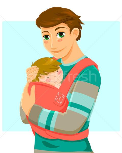 man and baby Stock photo © ayelet_keshet