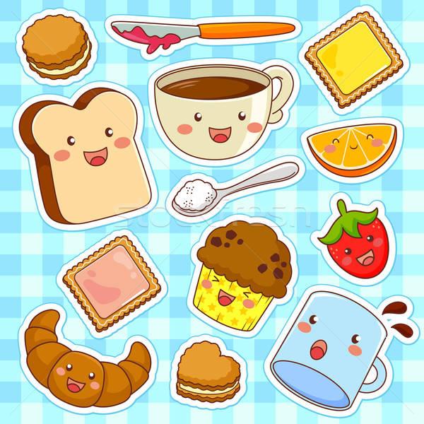 happy cartoon foods Stock photo © ayelet_keshet