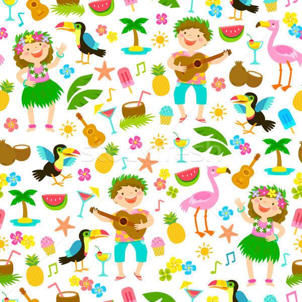 Tropical seamless pattern Stock photo © ayelet_keshet