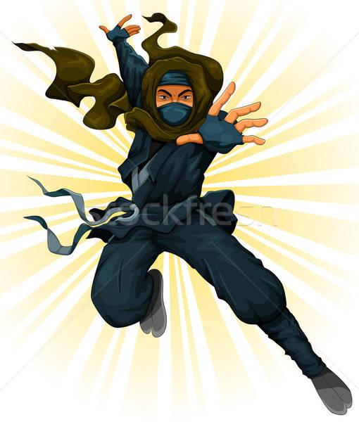 Cartoon ninja actie man jongen kleding Stockfoto © ayelet_keshet