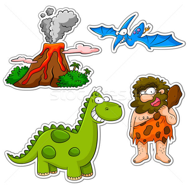 prehistoric cartoons Stock photo © ayelet_keshet