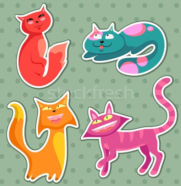 漫画 猫 コレクション 猫 女性 猫 ストックフォト © ayelet_keshet