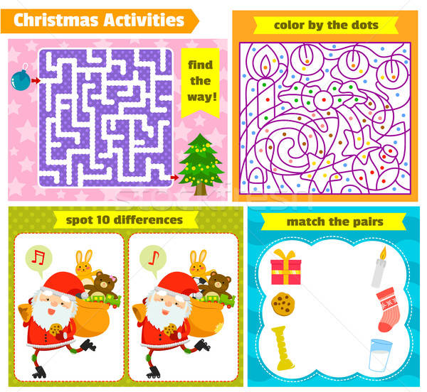 Christmas puzzle games  Stock photo © ayelet_keshet