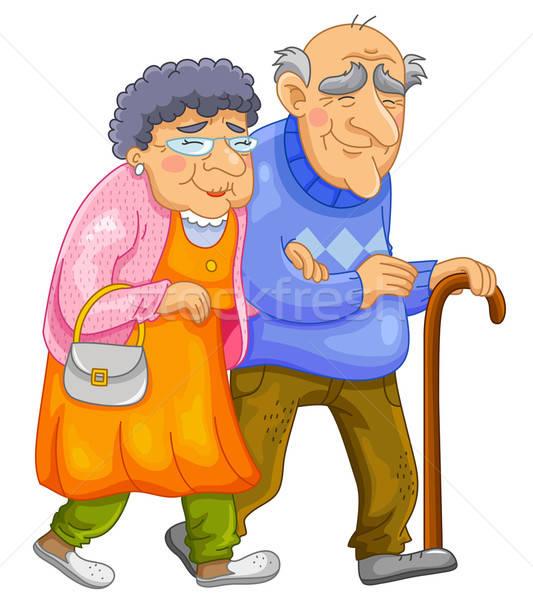 Feliz casal velho caminhada juntos família amor Foto stock © ayelet_keshet
