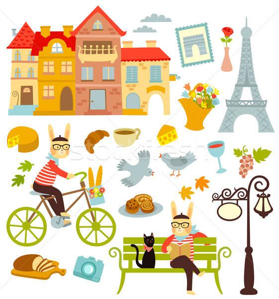パリ コレクション 漫画 シンボル コーヒー 市 ストックフォト © ayelet_keshet
