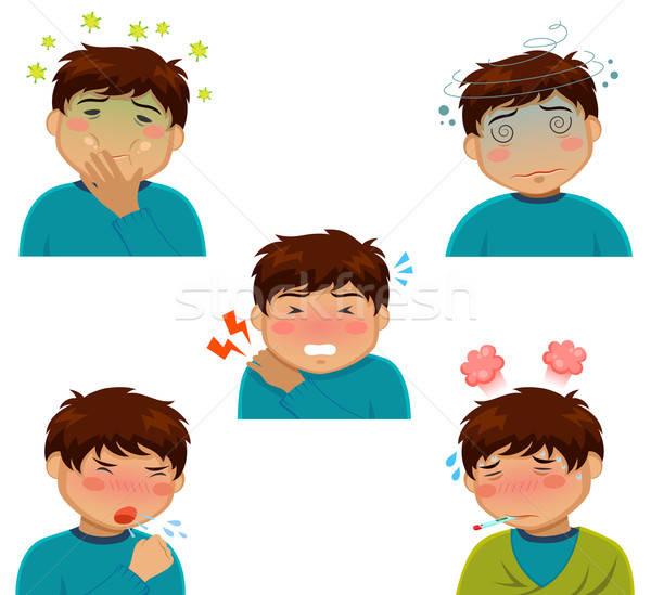 Betegség rajz személy különböző férfi orvosi Stock fotó © ayelet_keshet