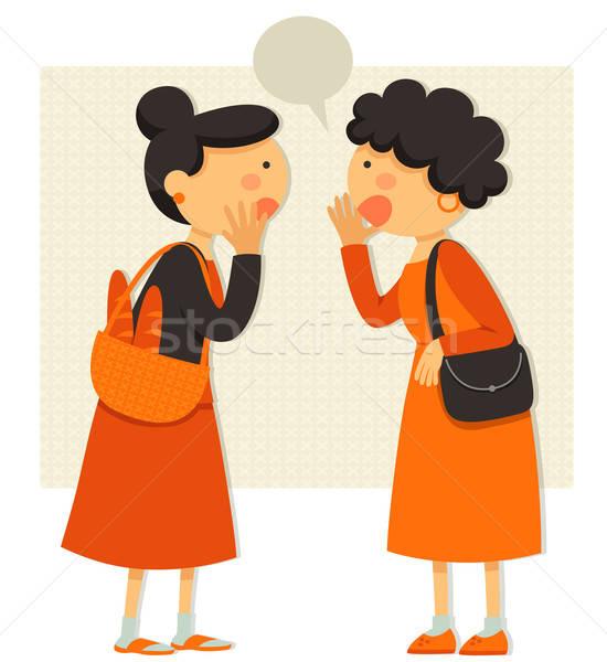 Senhoras falante duas mulheres fofoca rumores Foto stock © ayelet_keshet