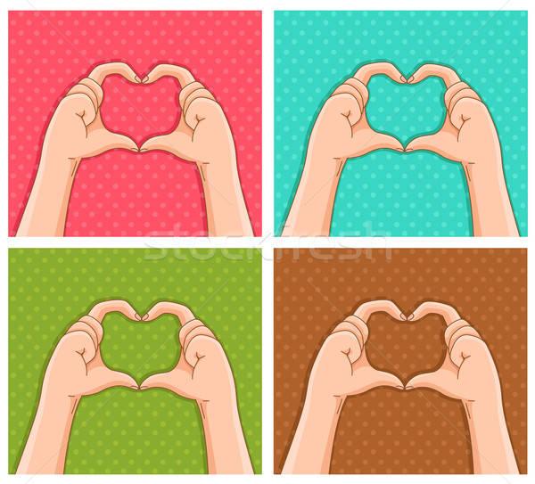 ストックフォト: 心 · 手 · 愛 · 中心 · にログイン