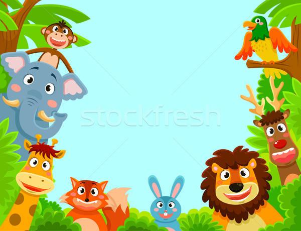 Stock photo: animals frame