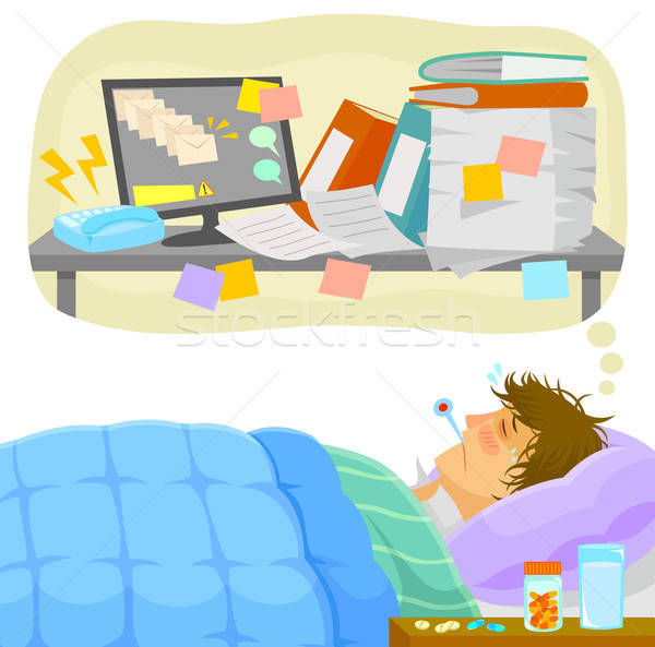 stressful sick leave Stock photo © ayelet_keshet