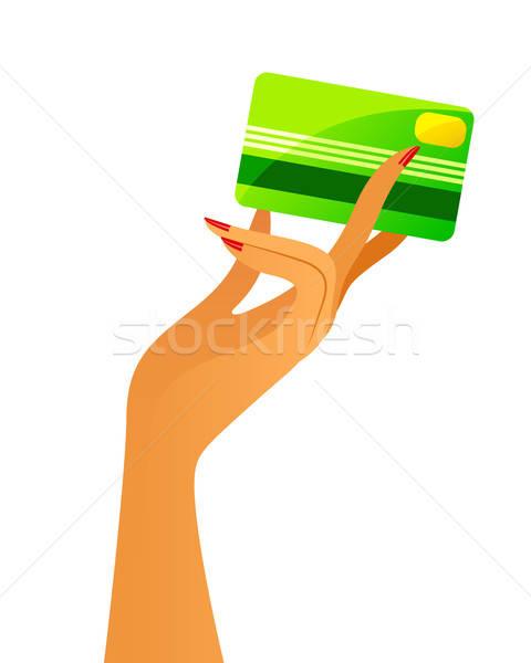 クレジットカード 手 エレガントな 女性 ショッピング ストックフォト © ayelet_keshet