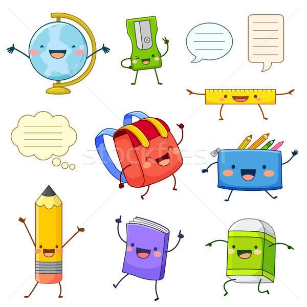 学校 供給 漫画 幸せ 子供 ストックフォト © ayelet_keshet